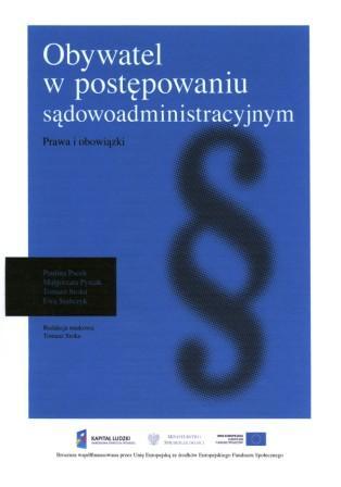 Obywatel w postępowaniu sądowoadministracyjnym - broszura